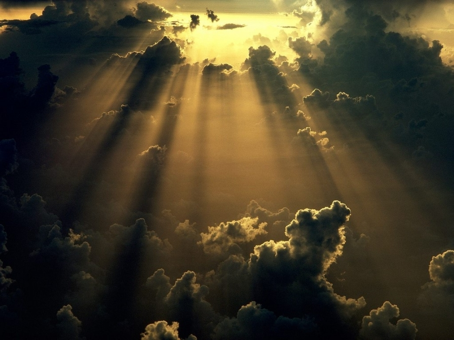 Bright sun rays through dark clouds http://4photos.net/